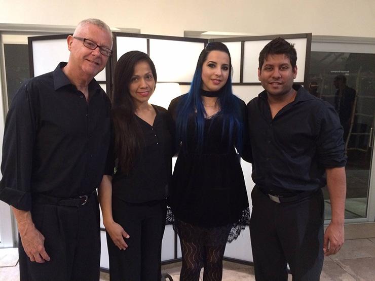 Michael Andrews, Ericmar Perez, Indira Labañino and Tony Seepersad.