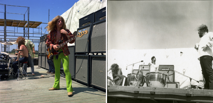 Photo: LEFT:Blue Cheer, RIGHT: Frank Zappa. Photo Credit: Ken Davidoff.