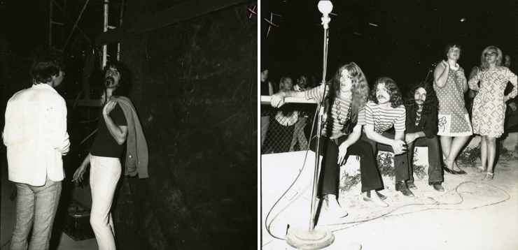 Photo: LEFT:Frank Zappa, RIGHT: Hippies. Photo Credit: Ken Davidoff.