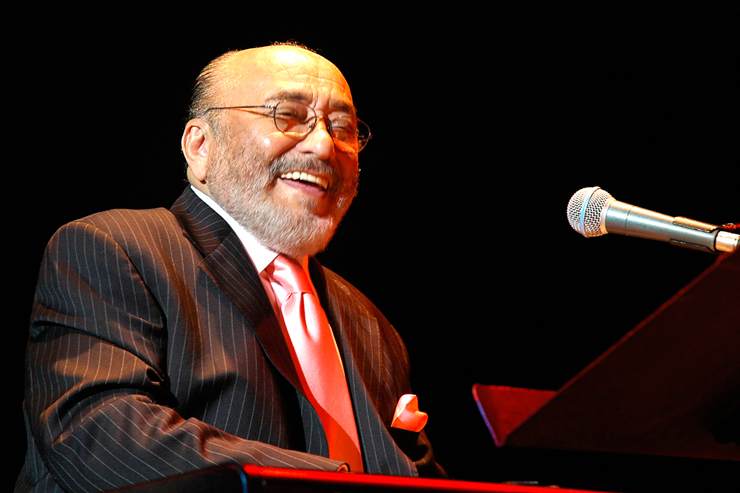 Eddie Palmieri performs Saturday night as part of the 30th anniversary of the Rhythm Foundation.
