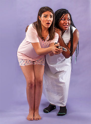 Diana Garle and Daryl Patrice in 'Bedtime,' part of City Theatre's Summer Shorts Festival. Credit: George Schiavone