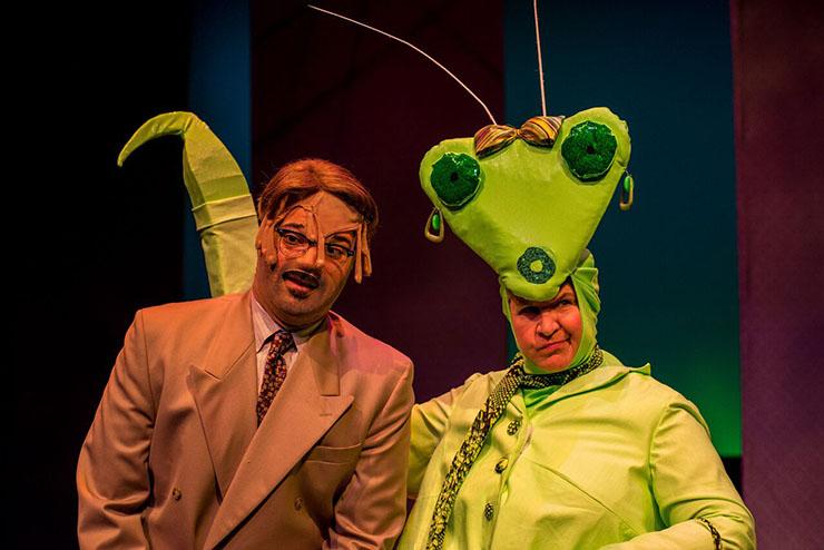 Alex Alvarez and Elizabeth Dimon in the play