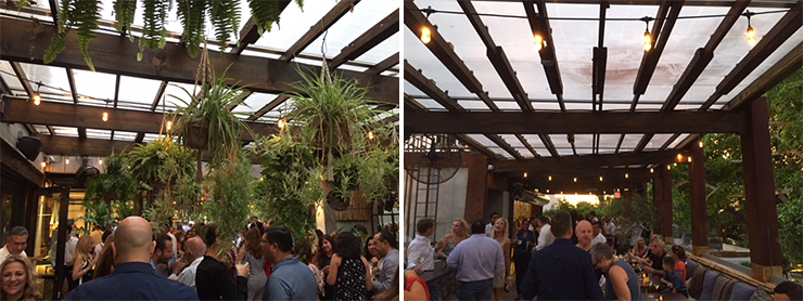 LEFT: Covered outside patio. RIGHT: Rooftop terrace.