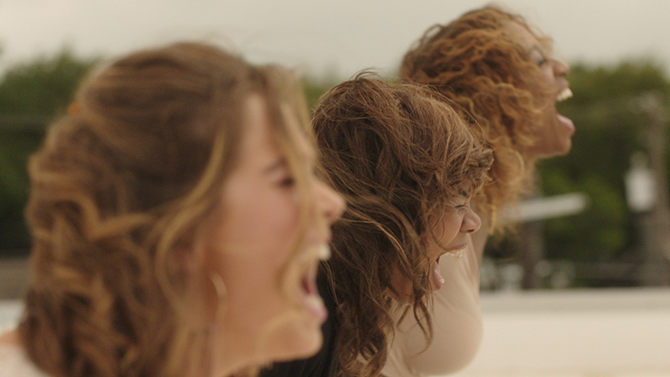 Haley Lu Richardson, Regina Hall, Shayna McHayle.<br>Photo courtesy Magnolia Pictures.