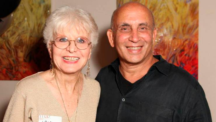 Iris Acker and miamiartzine.com founder and publisher Harvey J. Burstein.