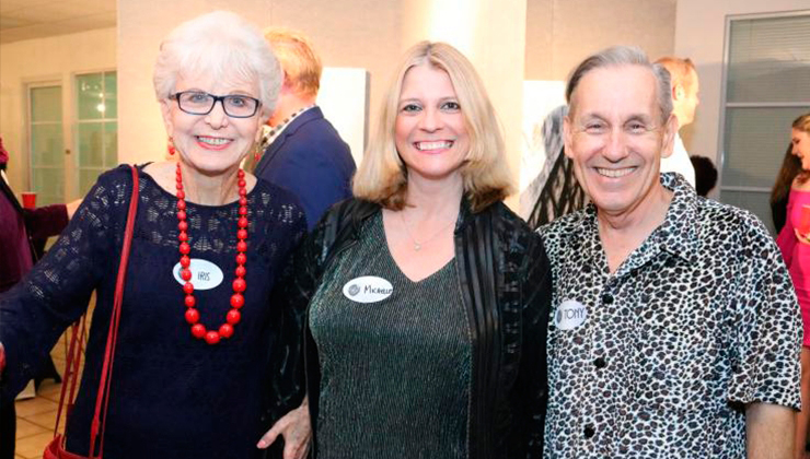 Iris Acker with Tony Finstrom and miamiartzine.com editor Michelle F. Solomon.