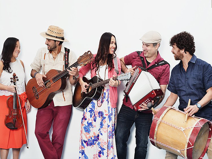 Sonia De Los Santos and her band