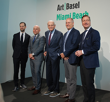 Press Reception Art Basel: Noah Horowitz, Marc Spiegler, Norman Braman,  Dan Gelber, Johan Jervoe<br>Photos by Irene Sperber