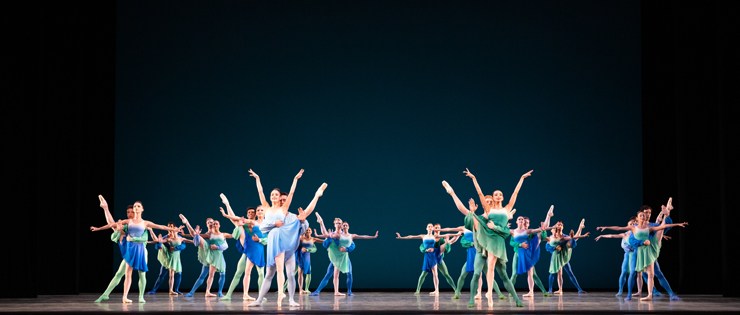 Miami City Ballet dancers in Brahms Handel Jerome Robbins & Twyla Tharp performed by Miami City Ballet. Photo: Alexander Iziliaev.