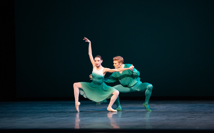 Nathalia Arja and Alexander Peters in Brahms Handel Jerome Robbins & Twyla Tharp performed by Miami City Ballet. Photo: Alexander Iziliaev.