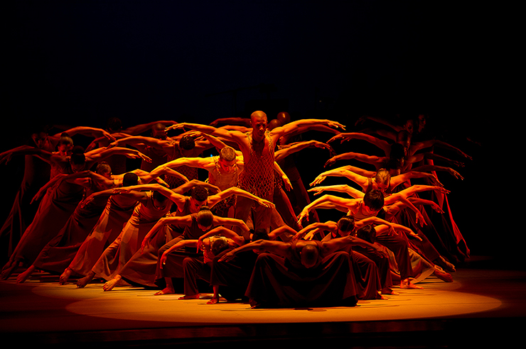 Alvin Ailey American Dance Theater in Alvin Ailey's Revelations.