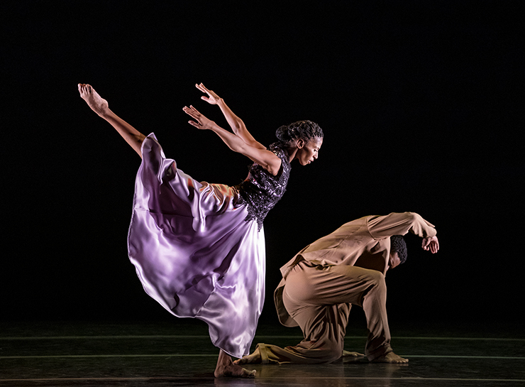 AAADT's Jacqueline Green and Solomon Dumas in Ronald K. Brown's