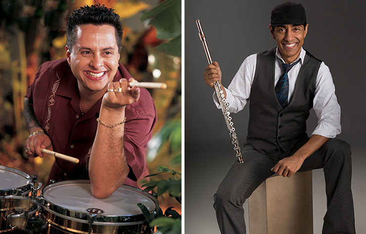 LEFT: On Sept. 29, Tito Puente Jr. celebrates Hispanic Heritage; RIGHT: Nesto Torres kicks off the series Sunday, Feb. 24.