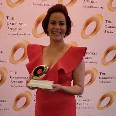Anna Lise Jensen took home a Carbonell as Best Actress in a Musical for her starring role in