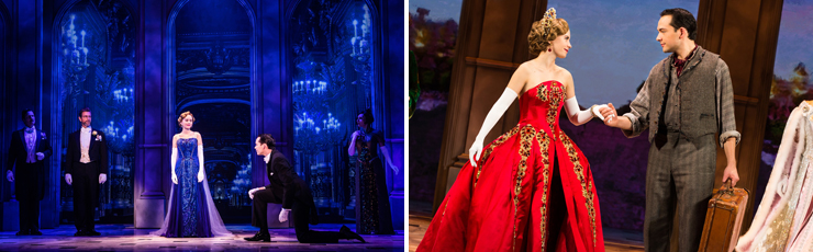 Photo (LEFT): Lila Coogan (Anya), Stephen Brower (Dmitry) and the company of the National Tour of