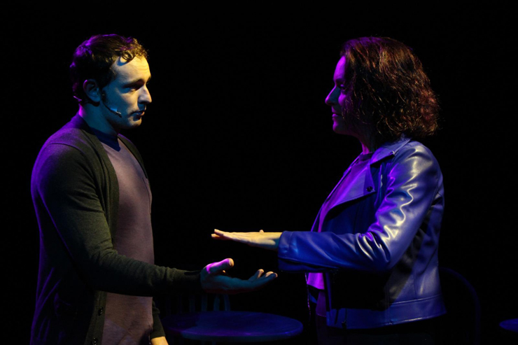 Christopher J. Alvarez as Michael and Sabrina Lynn Gore as Sara. Photos by Tall Glass.