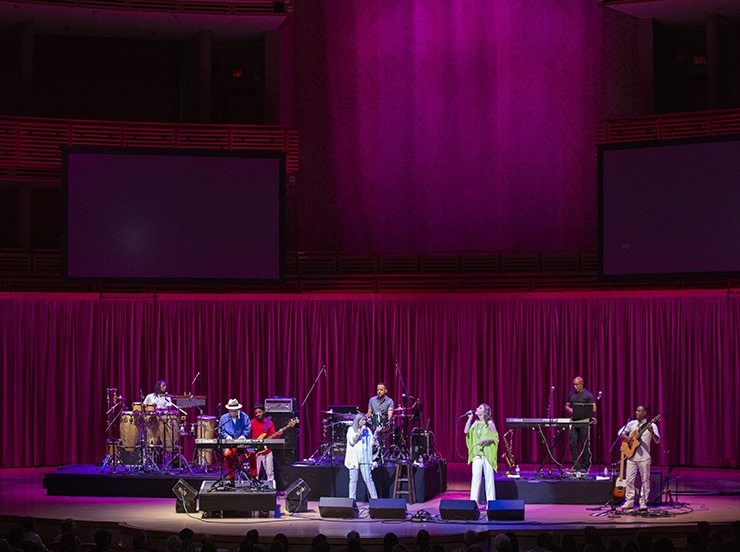 Sergio Mendes performs as part of the Jazz Roots series at the Adrienne Arsht Center. Photo by Daniel Azoulay