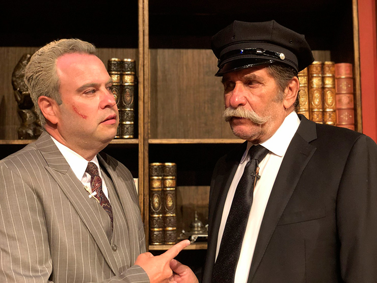 From left to right: JCAT actors Brian Goldberg (O'Reilly) and Sonny Levitt (Michael) in