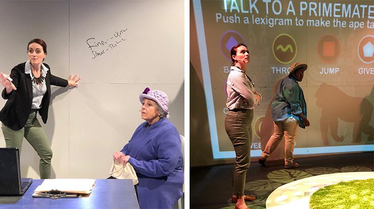 Sabrina Lynn Gore and Carol Sussman in Thinking Cap's