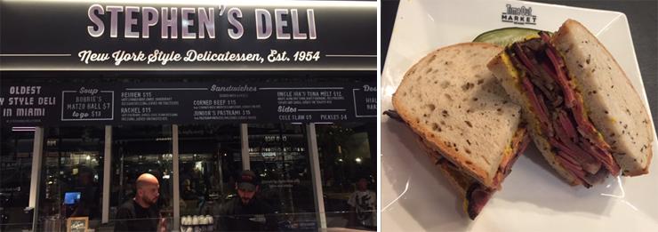 LEFT: Stephen's Deli.  RIGHT: Pastrami on rye.