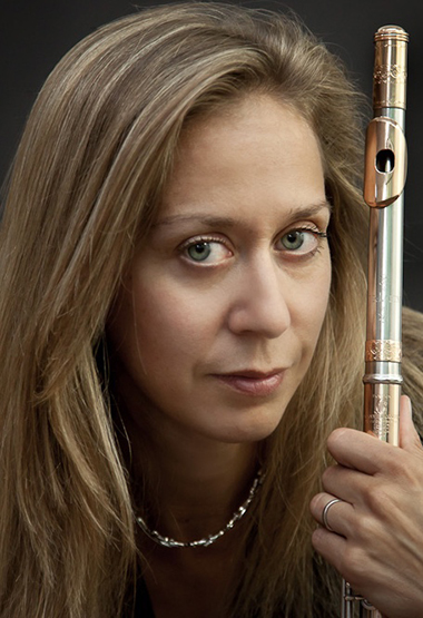 Internationally recognized flutist Marina Piccinini will perform Thursday at the New World Center in Miami, and be in residence for workshops and master classes. Credit: Steve Riskind