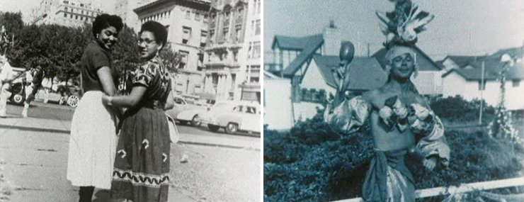 LEFT: Audre Lorde (right) and friend, New York City, circa 1950s, courtesy Audre Lorde<br>