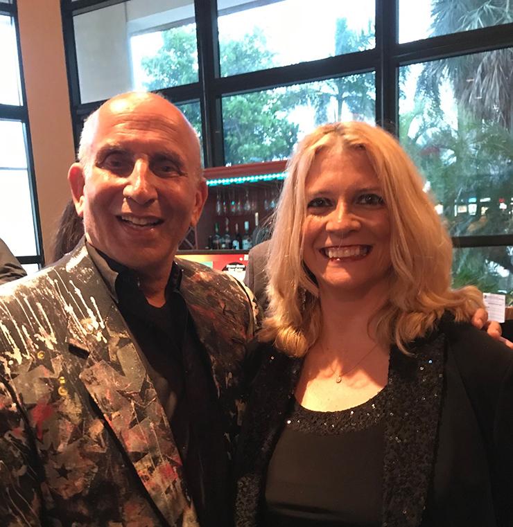 Harvey J. Burstein and miamiartzine.com editor Michelle F. Solomon.