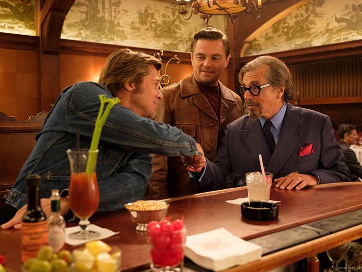 Brad Pitt, Leonardo DiCaprio, Al Pacino<br>Courtesy Sony Pictures