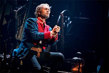 Nick Cartell as Jean Valjean sings