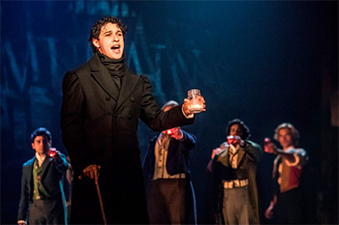 Joshua Grosso as Marius in the touring production of