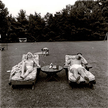 Edwynn Houk Gallery |Diane Arbus, A Family on their Lawn One Sunday in Westchester, NY, 1968 | ©Estate of Diane Arbus/Courtesy Edwynn Houk Gallery. Look for it in the Galleries Sector of Art Basel Miami Beach.