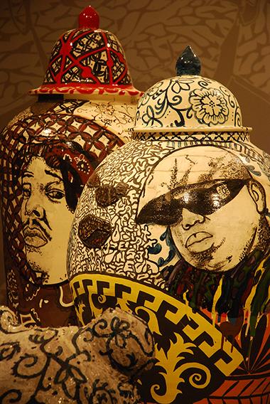 Wexler Gallery, Street Shrine 1: A Notorious Story, by Roberto Lugo, Design Miami.