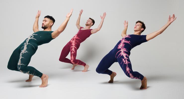 Elemental (Earth section), photographer Simon Soong, dancers L-R Anthony Velazquez, Matthew Huefner, David Harris