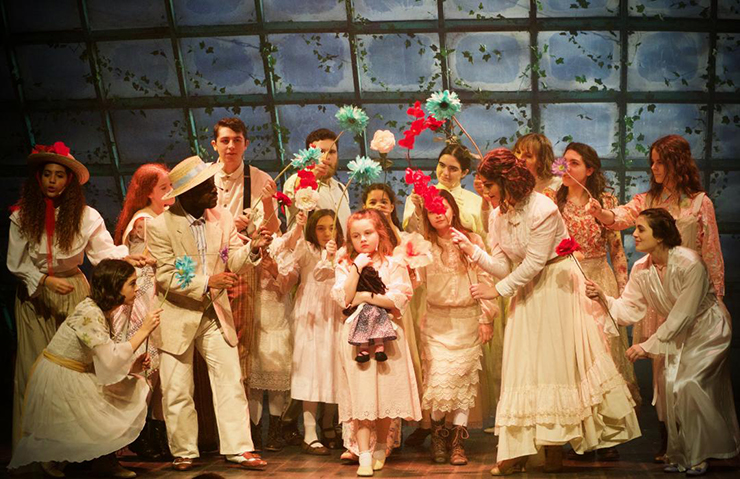 Members of the Peter x Wendy cast appear in a magical scene.