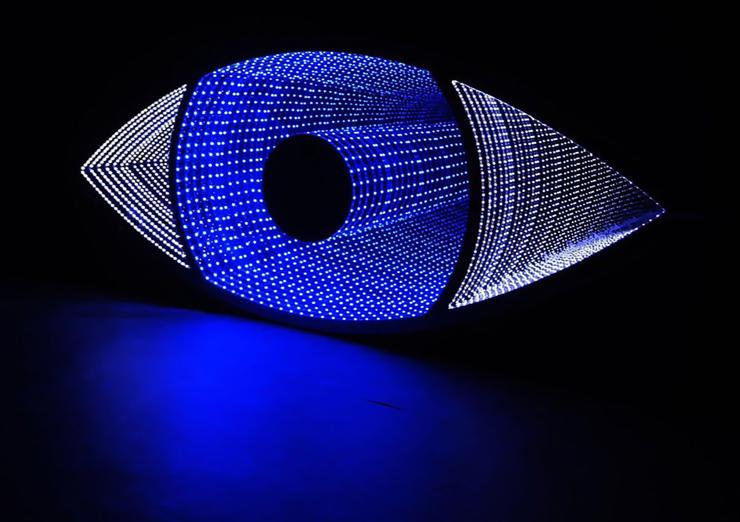 Emmanuelle Rybojad, I See You, 2018, LED, Mirror, Plexiglass, Eternity Gallery, Miami.