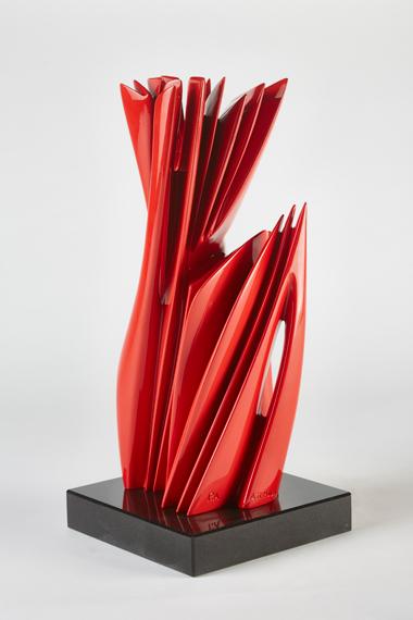 Pablo Atchugarry, Untitled, 2019, Bronze with automotive paint, Pontone Gallery.
