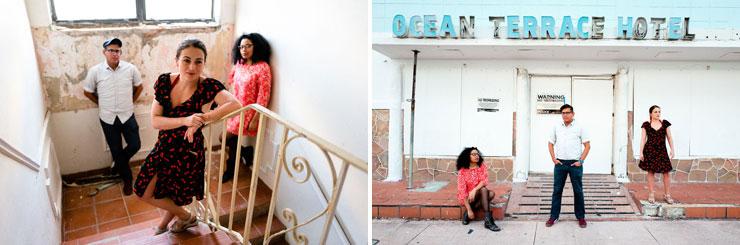 Director: Tai Thompson (red dress)<br/>  Playwright: Juan C. Sanchez<br/>  Director: Ana Margineanu (black and red dress)<br/> Photo Credit: Daniella Piantini