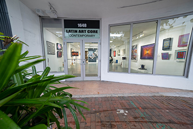 The Latin Art Core Gallery in Little Havana