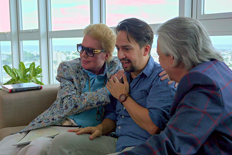 Walter Mercado, Lin-Manuel Miranda, Luis Miranda, Photo courtesy Netflix.