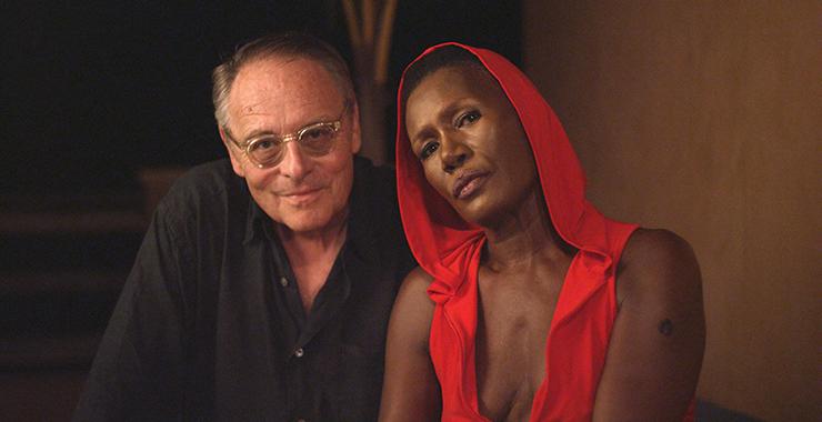 Documentary filmmaker Gero von Boehm with Grace Jones in Jamaica, 2019. (Photo credit Pierre Nativel, Lupa Film, Kino Lorber)