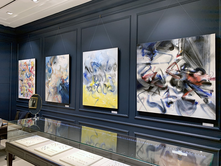 Art inside Kirk Jewelry in Brickell City Centre.