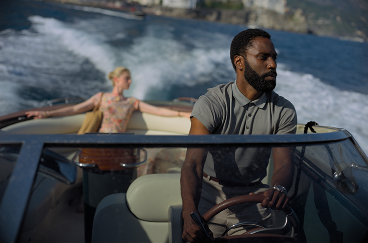 Elizabeth Debicki and John David Washington