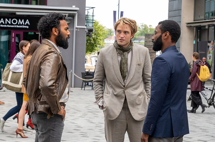 Himesh Patel, Robert Pattinson, John David Washington in