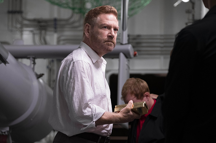 Kenneth Branagh as Russian oligarch Andrei Sator.