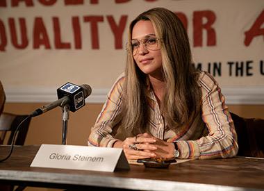 Alicia Vikander as Gloria Steinem in