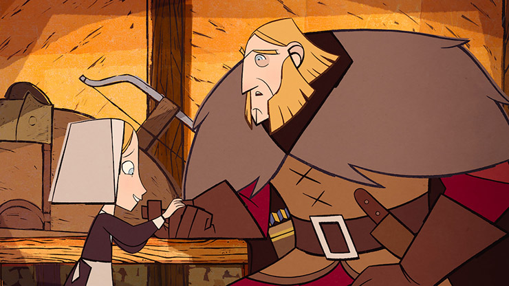 Honor Kneafsey, Sean Bean (voices of) - Courtesy GKIDS/Apple TV+