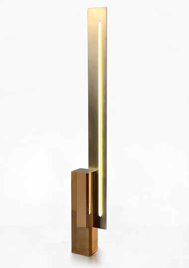 Resin and neon floor lamp, created by Sabine Marcelis for Side Gallery in 2020. (Courtesy of Design Miami)
