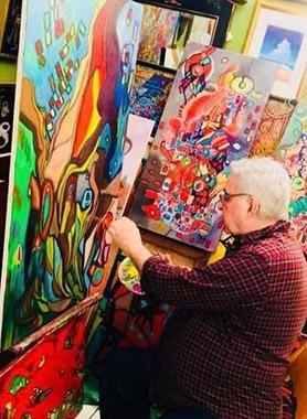 Bruno Camargo in his studio