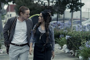 Owen Wilson and Salma Hayek in a scene from