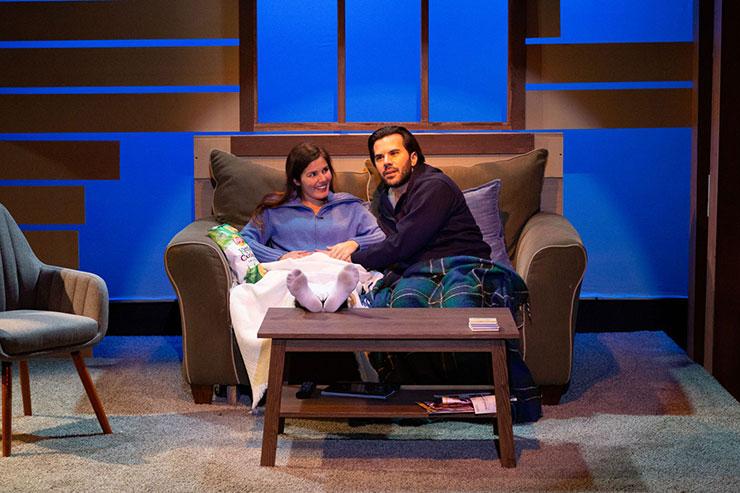 From left to right, Tara (Gaby Tortoledo) and Elliott (Israel Vinas) begin to bond. Photo Credit Matthew Tippins.